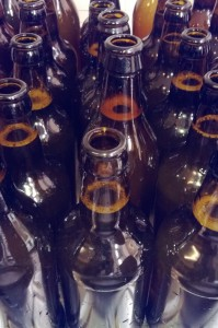 Home brew bottle cleaning